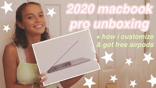 "13"" macbook pro 2020 unboxing + customizing !"
