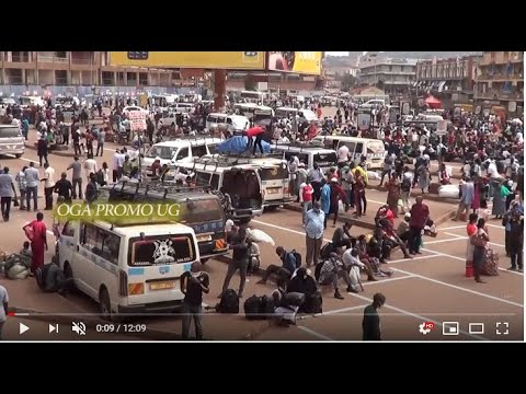 Kampala filled to capacity as public transport returns, people remain stranded battling with Police