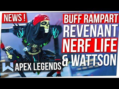 News Apex : Buff Revenant & Rampart, Nerf Life, Wattson OP, Skins Esports, Couleurs Viseurs...