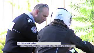 Sécurtié routière : des ateliers avec les motards de la Police Nationale au Chesnay