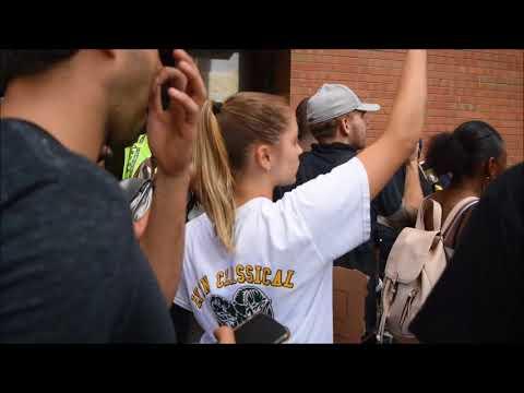 Counter Protestors In Boston Vent Frustration At Police