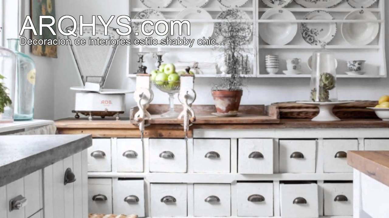 Estilo Shabby Chic Decoracion Interiores ~ Ideas para decorar con el estilo shabby chic  YouTube