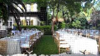 WEDDING PREPARATION AT ERNEST HEMINGWAY HOUSE IN KEY WEST