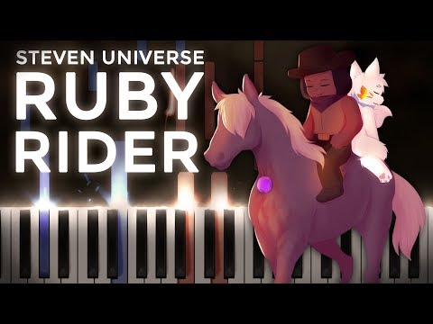 Steven Universe · Ruby Rider | LyricWulf Piano Tutorial on Synthesia