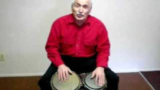 Jack Costanzo playing his Signature Volcano Percussion bongos