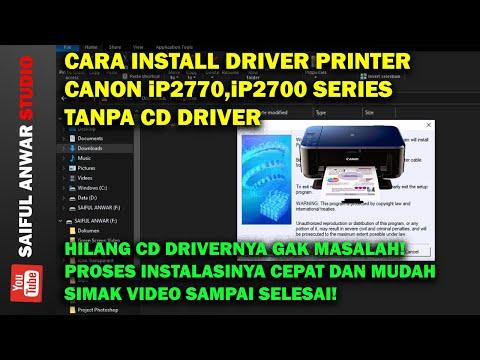 Cara instal printer canon ip 2770 tanpa cd, praktis dan cepat sebelum instal driver harap copy dulu .