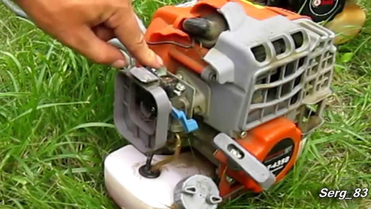Как помыть воздушный фильтр на бензотримере, бензокосе Ижмаш Industrial Line GT 4350