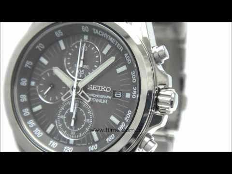 2579ba50904 Relógio Seiko Sportura Aviator Sapphire Masculino 7T62BT 1 TTIME RELÓGIOS. Relógio  Seiko Chronograph Titanium 7T92BZ 1