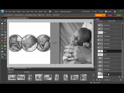 Photoshop Elements - Drag and Drop Templates