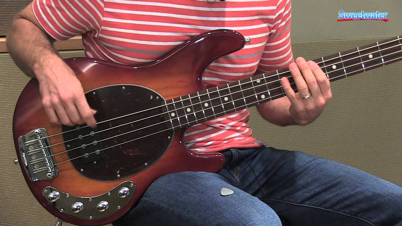 music man stingray 4 h electric bass guitar demo sweetwater sound youtube. Black Bedroom Furniture Sets. Home Design Ideas