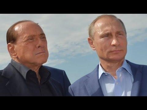 Putin and Berlusconi in Crimea wine row