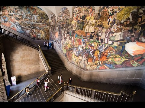 Mexico City National Palace Diego Rivera Murals Maya Trip Ep 57
