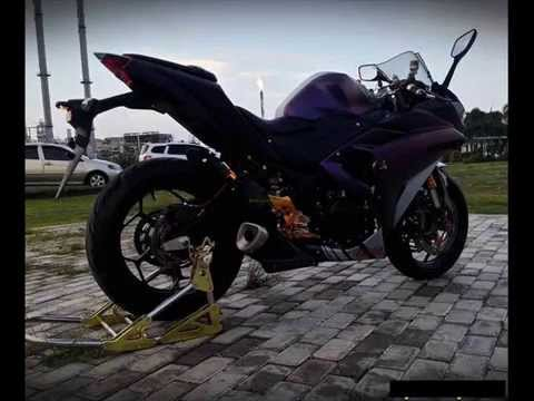 modifikasi yamaha r25 warna ungu bunglon youtube