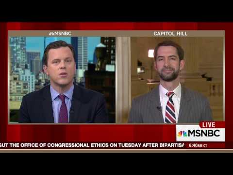 January 4, 2017: Sen. Tom Cotton appeared on MSNBC