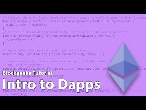 Intro to Ethereum Dapps