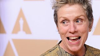 Frances McDormand explains Inclusion Rider at Oscars - Full Backstage Speech
