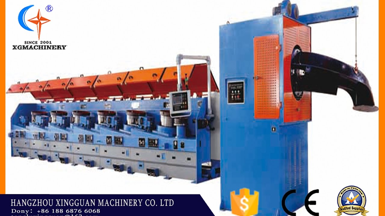 LZ-13/560 straight line wire drawing machine with coiler for high ...