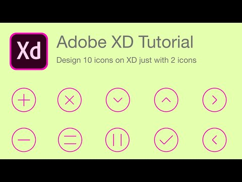 Design 10 Icons with 2 lines    Adobe XD Tutorial thumbnail