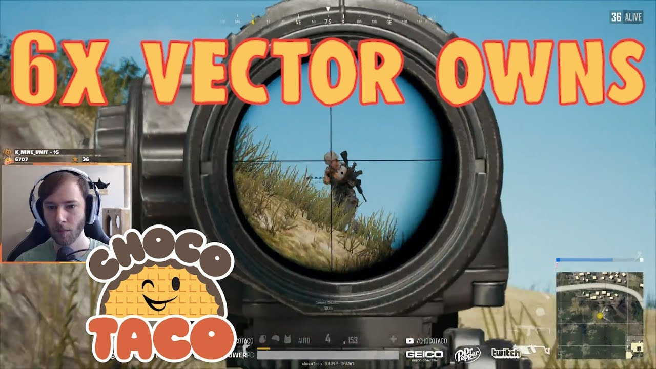 chocoTaco Owns with 6x Vector - PUBG Game Recap