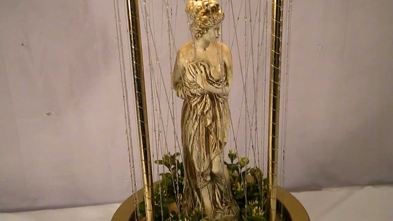 inc large ivory gold diana goddess rain oil swag lamp youtube. Black Bedroom Furniture Sets. Home Design Ideas