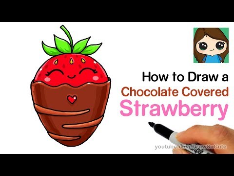 how-to-draw-a-chocolate-covered-strawberry-easy-cute