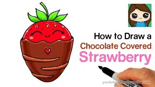 How to Draw a Chocolate Covered Strawberry Easy Cute