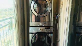 삼성세탁기+엘지건조기 직렬설치