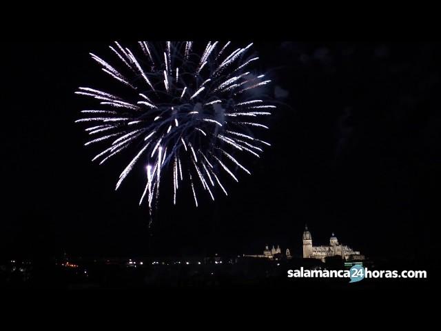 Fuegos artificiales San Juan de Sahagún 2017 en Salamanca