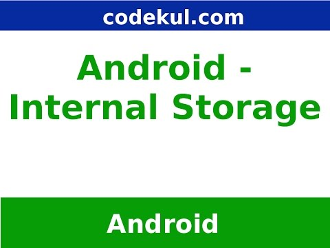 Internal Storage in Android