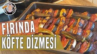 Firinda sebzeli köfte dizmesinin tarifi-Aksam yemegi önerisi-Hatice Mazi