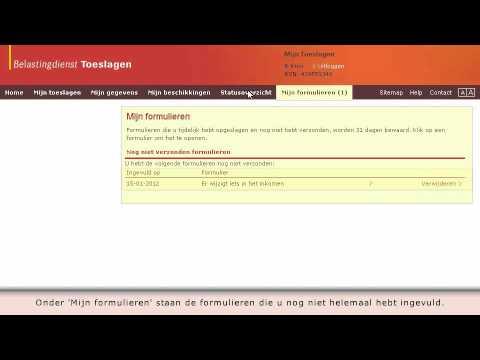 Belastingdienst.nl - Mijn Toeslagen - 2012 - YouTube