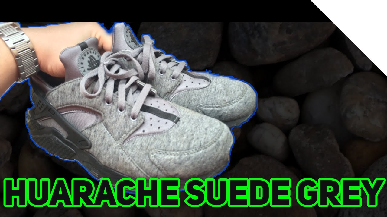 Nike Huarache Run TP *RARE* - Cool Grey Black White Review/Box
