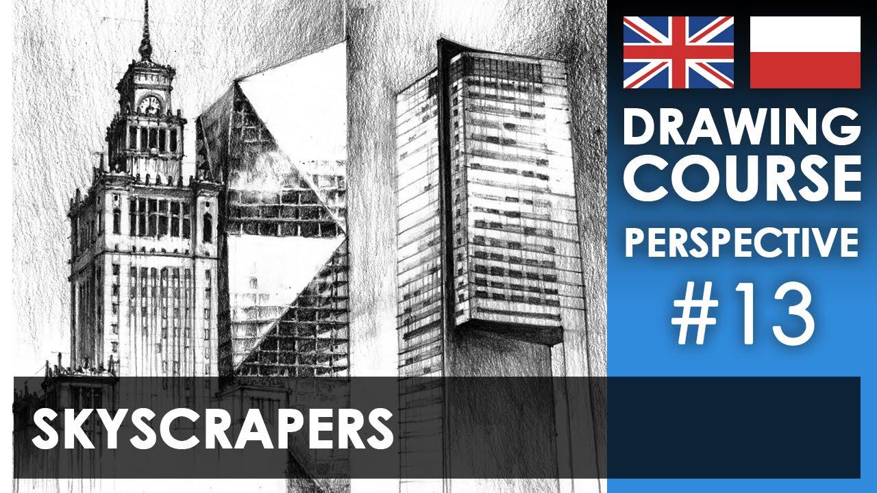 Drawing tutorial - Skyscrapers | Kurs rysunku - Wieżowce [S01E13 ENG/PL]