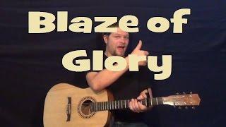 Blaze of Glory (Bon Jovi) Easy Strum Guitar Lesson How to Play Tutorial