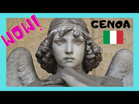 GENOA, the incredibly spectacular monuments of MONUMENTAL CEMETERY (STAGLIENO), ITALY