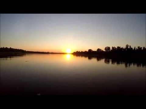 """Погружение камеры на дно реки """"Ока"""" в районе г. Кашира."""