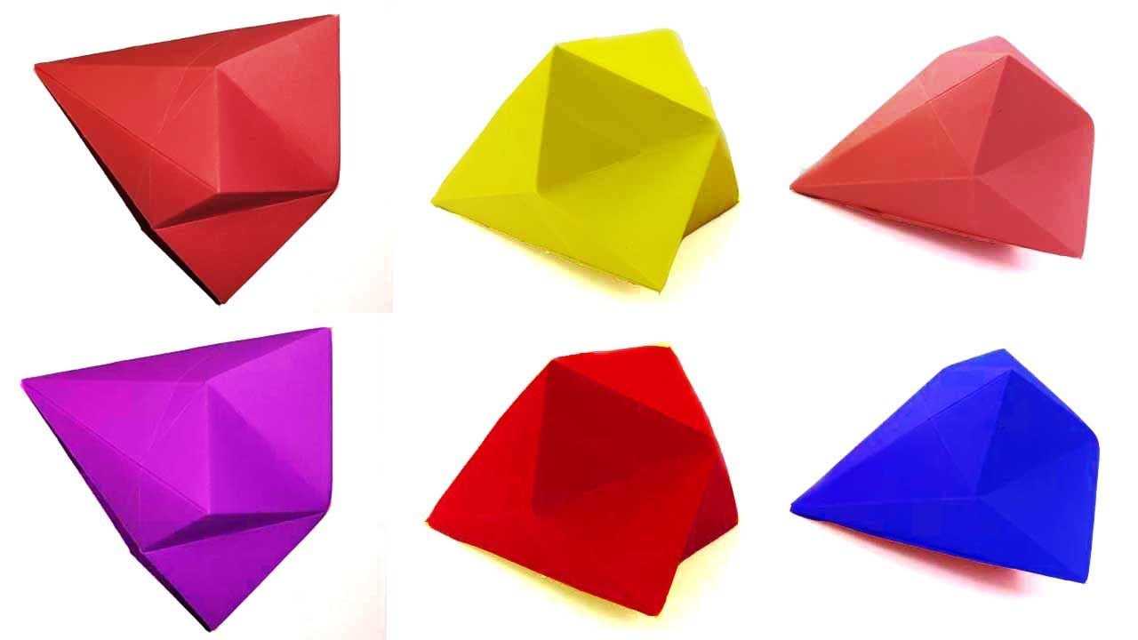 Paper Diamond Easy Quick Learning Video By Origami Art