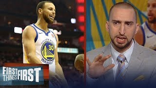 Nick Wright on how a struggling Curry impacts the Golden State Warriors | NBA | FIRST THINGS FIRST