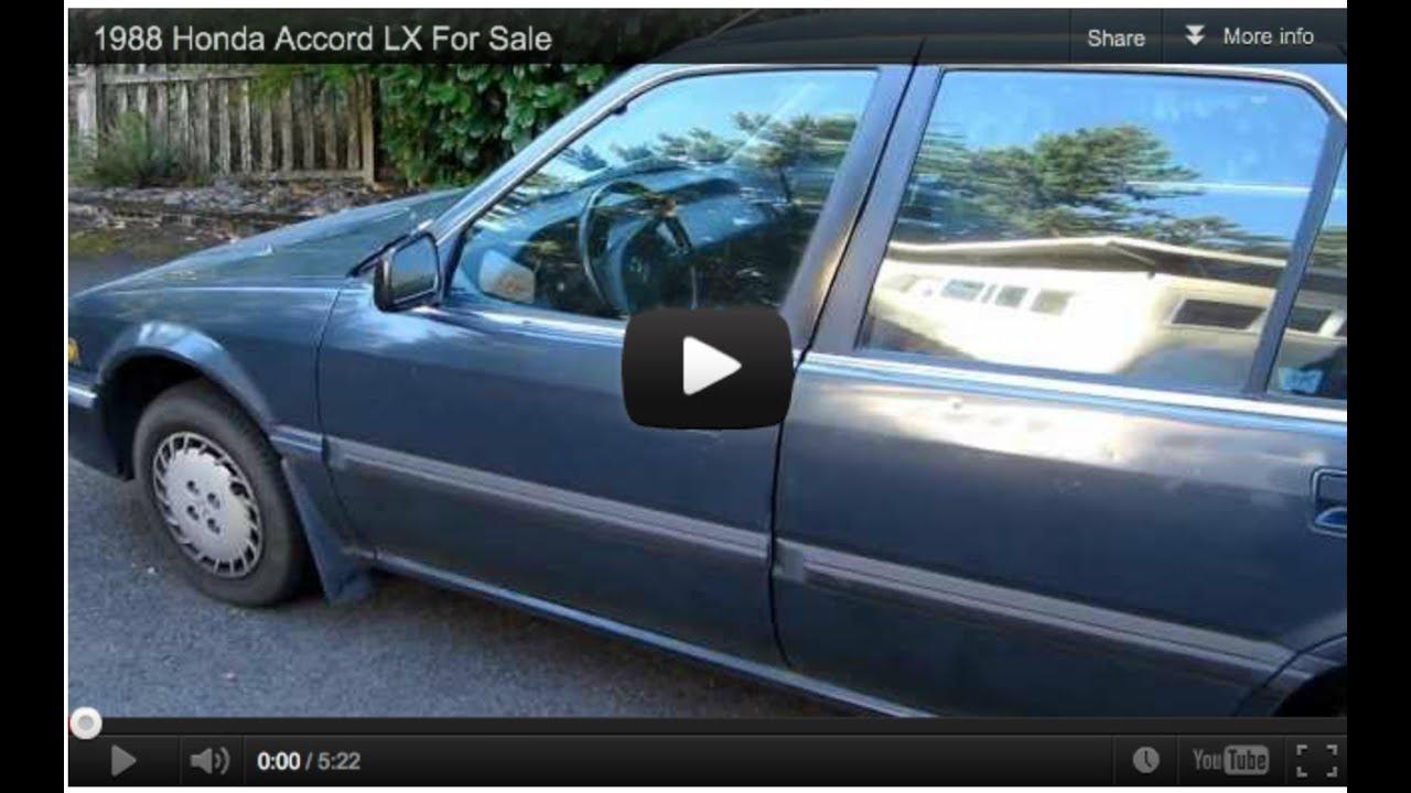 1988 Honda Accord LX For Sale, $2200 OBO, 204k - YouTube