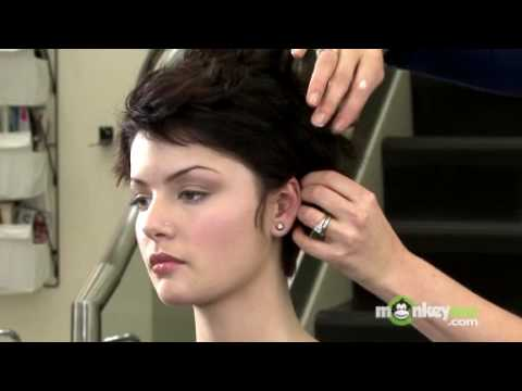 youtube short hair styling hair style formal updo 7328 | hqdefault