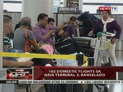 QRT: 162 domestic flights sa NAIA Terminal 3, kanselado