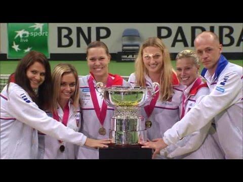Fed Cup 2014 finále Praha; CZE - DEU; Kvitová - Kerber; rozhodující zápas
