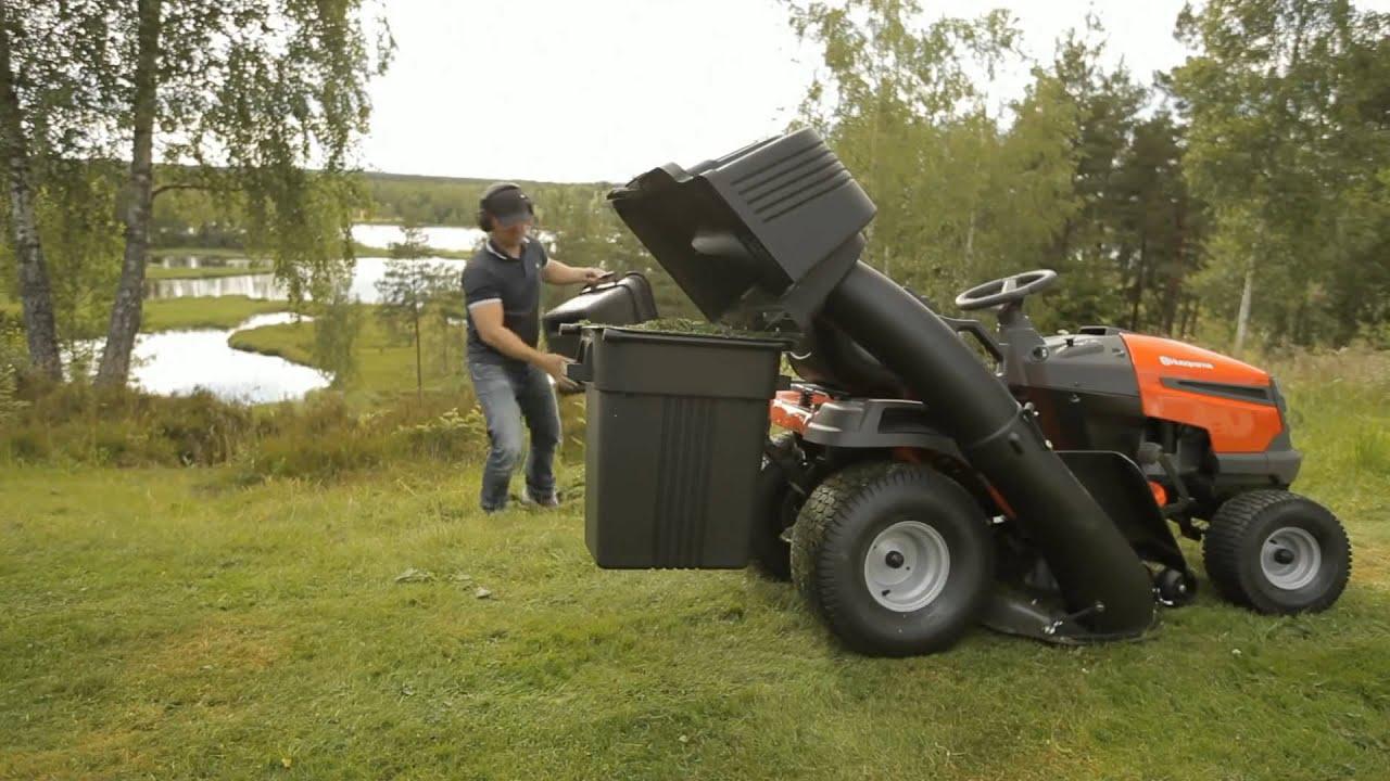 Husqvarna Tractor LTH 2 bin collector