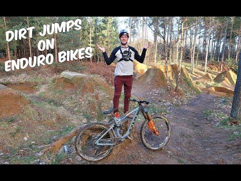 DIRT JUMPS ON ENDURO BIKES!!