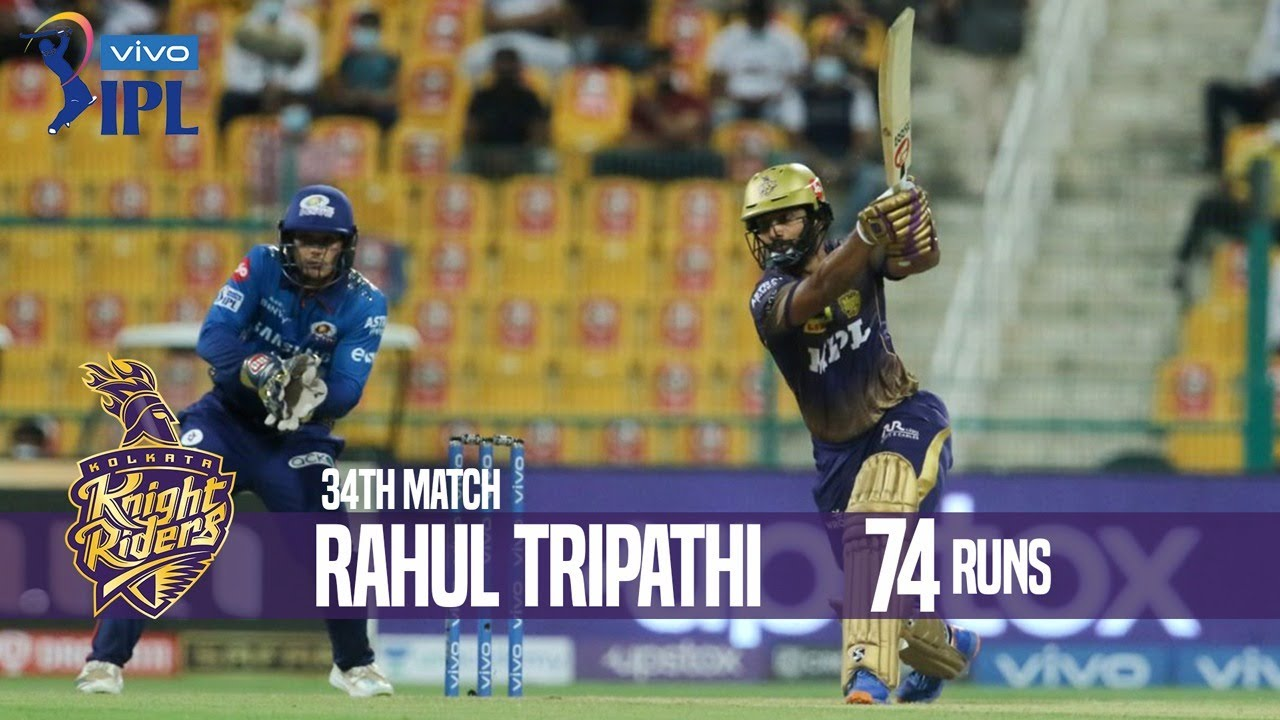 Rahul Tripathi's 74 Runs Against Mumbai Indians | 34th Match | Indian Premier League 2021