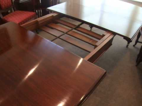 Antique Victorian Mahogany Extending Dining Table Youtube