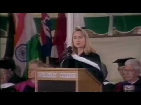 Hillary Rodham Clinton, age 44 - Wellesley Commencement Speech, May 29, 1992