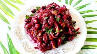 Постный салат Диетический и полезный салат Здоровое питание