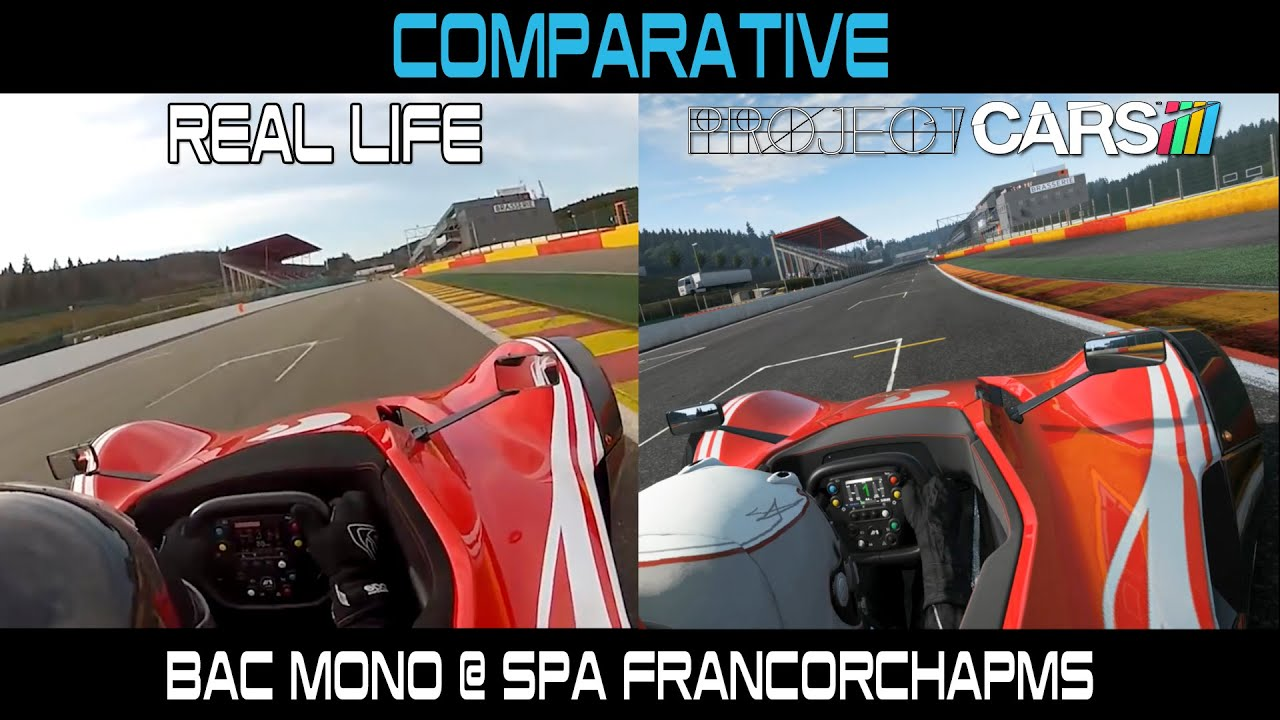 Project Cars Vs Real Life Bac Mono Spa Francorchamps Youtube
