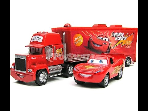 Disney Cars - McQueen Car and Mack Truck - Toys Play for Kids - Kids VIdeo  sc 1 st  YouTube & Disney Cars - McQueen Car and Mack Truck - Toys Play for Kids ...